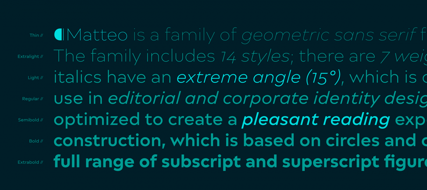 Matteo styles   Indian Type Foundry